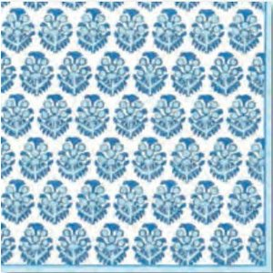 ペーパーナプキン 実パターン柄 ブルー [メール便OK] ランチサイズCaspariカスパリ tanba|kaderia