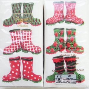 ペーパーナプキン[メール便OK][ハンキー]クリスマス 長靴 [Caspari]カスパリ・ペーパーナフキン・紙ナプキン