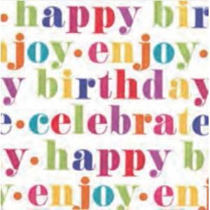 ペーパーナプキン Happy birthday カラフル [メール便OK] ランチサイズCaspariカスパリ・誕生日・パーティー|kaderia