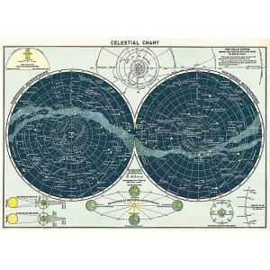 Cavallini&Co 包装紙 ラッピングペーパー 天体天体地図輸入包装紙スクラップブッキング・ポ...