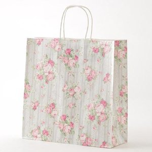 ラッピング用 手提げ紙袋 レースローズ Mサイズ[その他]紙袋・ラッピング資材・ギフト|kaderia