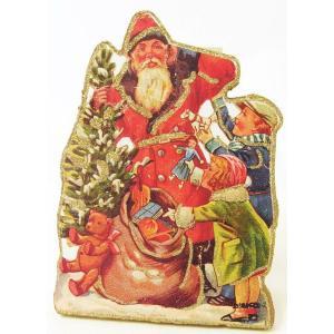クリスマス オブジェサンタと子供たち飾り・リース・置物[その他]クリスマス