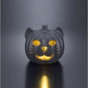 猫型LEDライト キャットランタンSかぼちゃネコライト・ハロウィン・ハロウィーン|kaderia