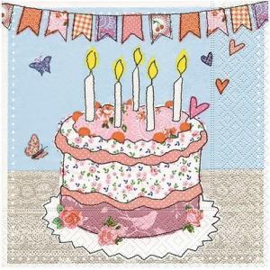 ペーパーナプキン[メール便OK]ランチサイズ バースデーサプライズ Birthday surprise 10枚入り[Paper+Design]誕生日・バースデー・ケーキ kaderia