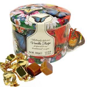 [輸入お菓子]缶入り バニラファッジ バタフライ [Gardiners Of Scotland]ガーディナーズFaiey・蝶・キャンディ・ファッジ|kaderia