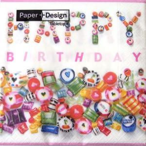 ペーパーナプキン[メール便OK]ランチサイズ スイートバースデーSweet Birthday 10枚入り[Paper+Design]ペーパーデザイン kaderia