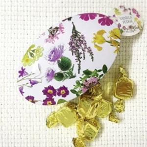 [輸入お菓子]缶入り バニラファッジ スコティッシュワイルドフラワー[Gardiners Of Scotland]ガーディナーズ・花・フラワー・キャンディ・ファッジ・tanba|kaderia
