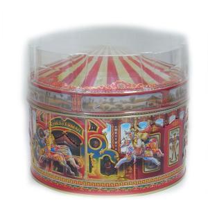 [輸入お菓子]缶入り チャーチル カルーセル赤缶(ファッジ&トフィー)チャーチルメリーゴーランド|kaderia