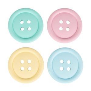 ボタン柄 パステルコースター 4枚入[Sass&belle]サス&ベル花柄ハートコースター|kaderia