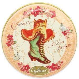 缶ケース ネコ Caffarel カファレル 缶ボックス 猫 キャット