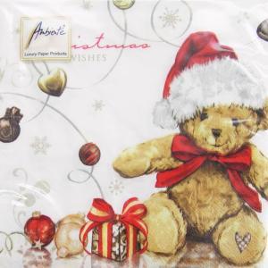 ペーパーナプキン[メール便OK] クリスマス テディー [Ambiente]クリスマスクマ・くま