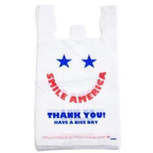 廃番在庫限り レジ袋S スマイルアメリカ SMILE AMERICA Sサイズ10枚ビニール袋 業務用 オクタニコーポレーション・小分け袋・アメリカン・買い物袋・おしゃ|kaderia