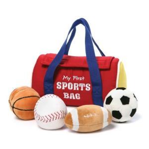知育玩具 マイ 1st スポーツバッグ プレイセット [GUND]ぬいぐるみ・おままごと・ミニバッグ・アニマルハウスシリーズ kaderia