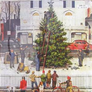 ペーパーナプキン[メール便OK]ランチサイズ クリスマスツリーの飾りつけ クリスマス 10枚入り[IHR]ドイツ 紙ナプキン・ペーパーナプキン