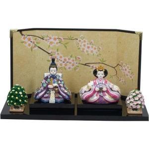 雛人形 ひめの 紫都香コンパクト親王飾り雛祭り・ひなまつり・雛飾り・お雛様|kaderia