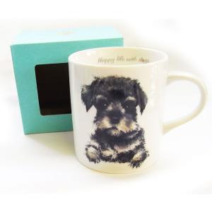 犬食器シリーズ DOGマグカップ シュナウザー[KYOSHINKAKOU]わんコレ 犬雑貨・いぬ・イヌ・キッチン・食器・ギフト kaderia