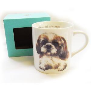 犬食器シリーズ DOGマグカップ シーズー[KYOSHINKAKOU]犬雑貨・いぬ・イヌ・キッチン・食器・ギフト kaderia