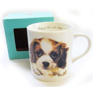 犬食器シリーズ DOGマグカップ キャバリア[KYOSHINKAKOU]犬雑貨・いぬ・イヌ・キッチン・食器・ギフト kaderia