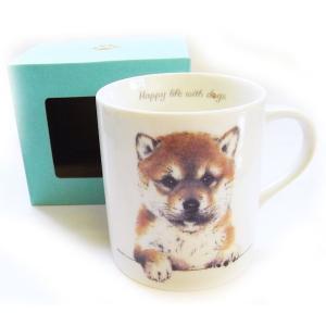 犬食器シリーズ DOGマグカップ 柴犬[KYOSHINKAKOU]犬雑貨・いぬ・イヌ・キッチン・食器・ギフト kaderia