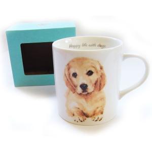 犬食器シリーズ DOGマグカップ ゴールデンレトリバー[KYOSHINKAKOU]犬雑貨・いぬ・イヌ・キッチン・食器・ギフト kaderia