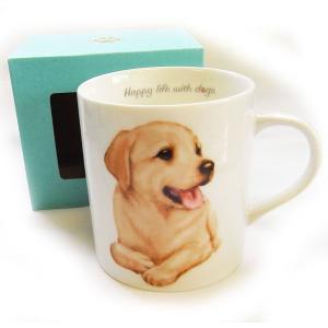 犬食器シリーズ DOGマグカップ ラブラドールレトリバー[KYOSHINKAKOU]犬雑貨・いぬ・イヌ・キッチン・食器・ギフト kaderia