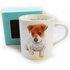 犬食器シリーズ DOGマグカップ ジャックラッセル[KYOSHINKAKOU]犬雑貨・いぬ・イヌ・キッチン・食器・ギフト kaderia