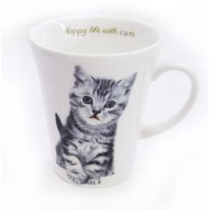 猫食器シリーズ CATマグカップ アメショー[KYOSHINKAKOU]猫・ネコ・ねこ・CAT・キッチン・食器・ギフト kaderia