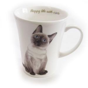 猫食器シリーズ CATマグカップ シャム[KYOSHINKAKOU]猫・ネコ・ねこ・CAT・キッチン・食器・ギフト kaderia