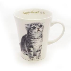 猫食器シリーズ CATマグカップ スコティッシュ[KYOSHINKAKOU]猫・ネコ・ねこ・CAT・キッチン・食器・ギフト kaderia