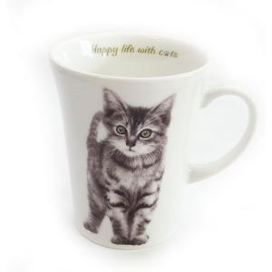 猫食器シリーズ CATマグカップ キジトラ[KYOSHINKAKOU]猫・ネコ・ねこ・CAT・キッチン・食器・ギフト kaderia