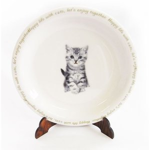猫食器シリーズ CAT 平皿 アメショー[KYOSHINKAKOU]猫・ネコ・ねこ・CAT・キッチン・カトラリー・ギフト kaderia