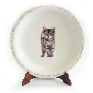猫食器シリーズ CAT 平皿 キジトラ[KYOSHINKAKOU]猫・ネコ・ねこ・CAT・キッチン・カトラリー・ギフト kaderia