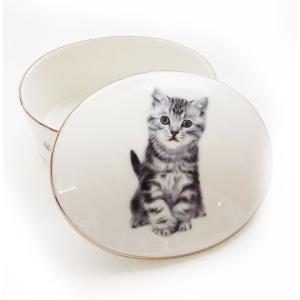 猫食器シリーズ CATシュガーポット アメショー[KYOSHINKAKOU]猫・ネコ・ねこ・CAT・キッチン・カトラリー・ギフト kaderia