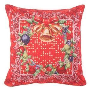 在庫限り クッションカバー  クリスマスリースベル ゴブラン風ジャカード織り[その他]インテリア・生活雑貨クリスマスクッション|kaderia