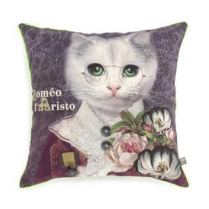 オブジェ・インテリア・アブラカダブラ クッションカバー ねこのロメオ[Objet d' Interieur Abracadabran]猫・ねこ・ネコ・クッションカバー kaderia