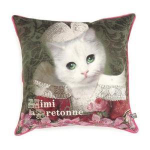 オブジェ・インテリア・アブラカダブラ クッションカバー ねこのミミ[Objet d' Interieur Abracadabran]猫・ねこ・ネコ・クッションカバー kaderia