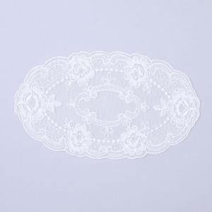 レースドイリ− オーバル ホワイト1枚花瓶敷き レースパーツ 手芸材料 ハンドメイド クラフト |kaderia