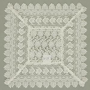 ミニバラギュピール レースドイリ− 花柄スクエア 大テーブルセンター 1632ハンドメイド クラフト |kaderia