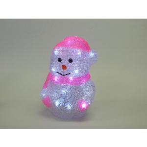 室内用 3Dアクリルモチーフ デコレーション ピンクスノーマン [コロナ産業]イルミネーション・デコレーション・LED|kaderia