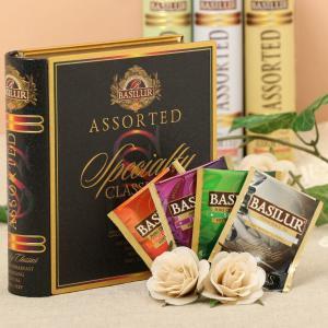 BOOK型缶入り紅茶 ティーブックコレクション アソートスペシャルティー・クラシック アソートtea bag60g/32袋入り[BASILUR]バシラーハリーポッター|kaderia