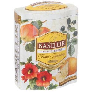 在庫限りSALE 波型缶入り バシラーティー【Magic Fruits】インディアンサマー(茶葉100g入り)【ギフト/紅茶】BASILUR]バシラー紅茶|kaderia