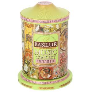 オルゴール缶入り紅茶 ミュージックコンサート ロマンティック ライムアルフォンス ミュシャ茶葉100g[BASILUR]バシラー|kaderia