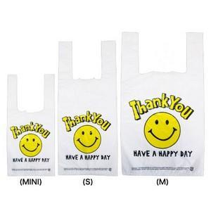 レジ袋S スマイルホワイト SMILE WHITE  Sサイズ10枚ビニール袋 業務用 オクタニコーポレーション・小分け袋・アメリカン・買い物袋・おしゃれ雑貨・レジ袋|kaderia