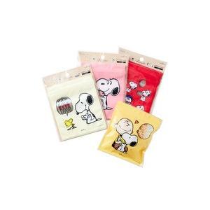ジップバッグ  スヌーピー Vintage PEANUTS  5枚入り ピンクHallmark ホールマークジッパーバッグ  ラッピング袋 キャラクター 保存袋 ジップロック 小分け|kaderia|03