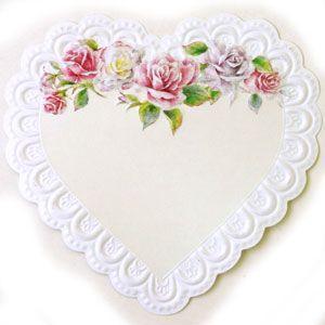廃番在庫限り アメリカ製 ミニカード ハートカード1枚[Carol's Rose Garden][Carol Wilson]キャロルウィルソン|kaderia