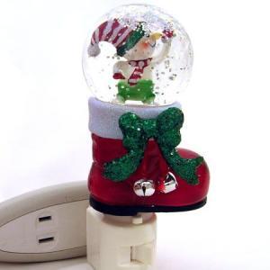 ナイトライト スノーボールブーツスノーマン[gts]クリスマス|kaderia