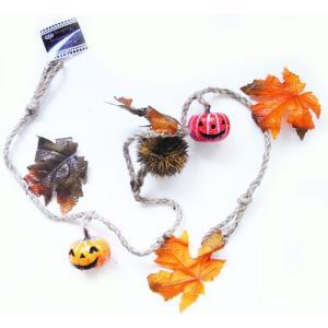 ハロウィンガーランド パンプキン・造花 [マンキッキ]ハロウィン・ハロウィーン・かぼちゃの画像