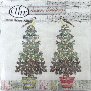 ペーパーナプキン[メール便OK]ランチサイズ ツイッターバード[IHR]733-135ドイツ 紙ナプキン・ペーパーナプキン クリスマス