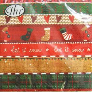 ペーパーナプキン[メール便OK]ランチサイズ レット イット スノークリスマス[IHR]ドイツ 紙ナプキン・ペーパーナプキン