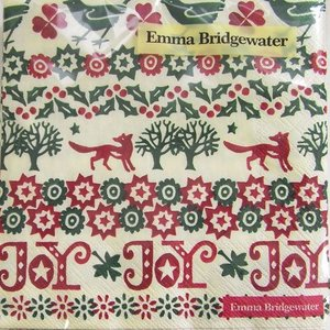 ペーパーナプキン[メール便OK]ランチサイズ クリスマスジョイ [Ihr]x[EmmaBridgewater]エマ・ブリッジウォーターペーパーナフキン・紙ナプキン・デコパージ|kaderia